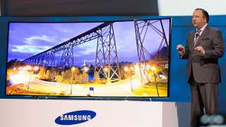 Samsung's focus is still on the big screen TVs