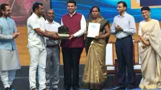 Lamaqani Sarve First in Water Cup Competition felicitated by chief minister
