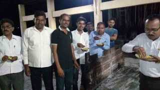 Birthday celebrations by in crematorium in solapur