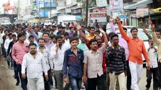 #MarathaKrantiMorcha bandh in kalamb city