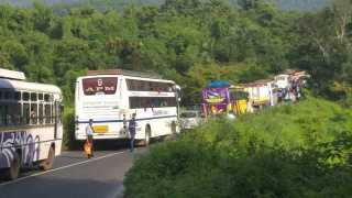 Kanakon Karwar Highway closed due to an accident that road