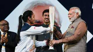 Prime Minister Narendra Modi at the inauguration of the first edition of Khelo India School Games