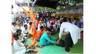 Blood Donation in Jalgaon for Maratha Reservation