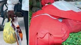बीड - शहरात फळे व भाजीविक्रेत्यांकडून कॅरिबॅगचा वापर सुरूच होता. (दुसऱ्या छायाचित्रात) काही व्यापाऱ्यांनी ग्राहकांना कापडी पिशव्या उपलब्ध करून दिल्या.