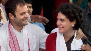 Rahul Gandhi and Priyanka Gandhi
