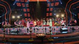 Ganesh Aarti On Set Of Sur Nava Dhyas Nava Singing Program On Colors Marathi Channel