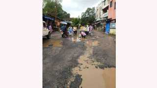 Bad Condition Of Roads In Vajreshwari Thane Mumbai