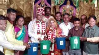 eco friendly arrangements in marriage at solapur