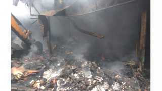 Fire damage to six shops in parali beed