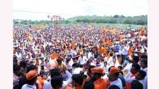Good Response To The Maratha Kranti Thok Morcha At Parali