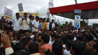 NCP Toll Naka Bandh protest