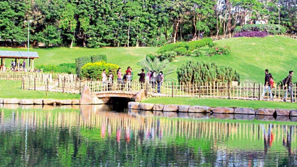 पु. ल. देशपांडे उद्यान (सिंहगड रस्ता) - जपानी संकल्पनेवर आधारित या उद्यानातील हिरवळ आणि पाण्यावर उमटलेले प्रतिबिंब मन मोहून घेते.