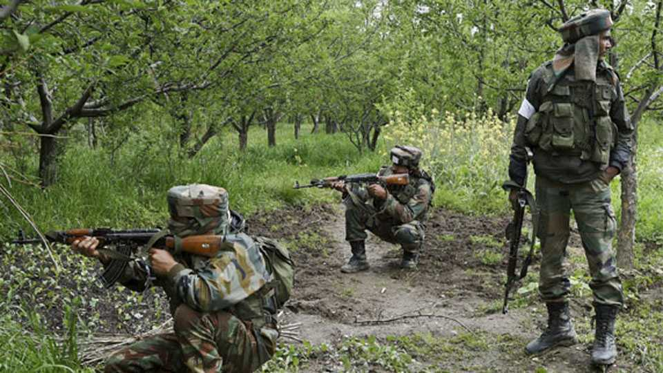 Search operation conducted by indian arm force in shreenagar's shopian district