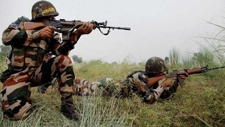 Two militants killed four civilians injured in gunfight in Jammu Kashmir