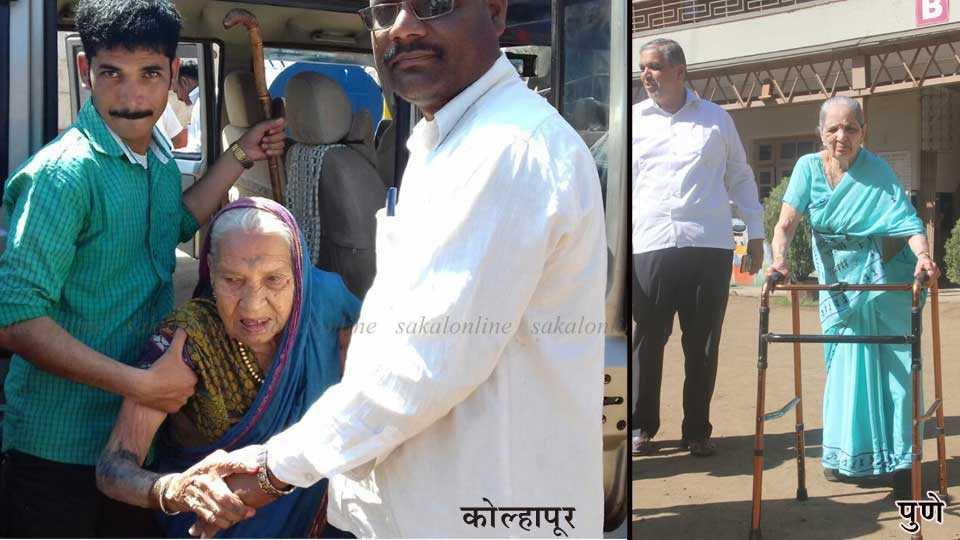 centenarian voters in Kolhapur, Pune