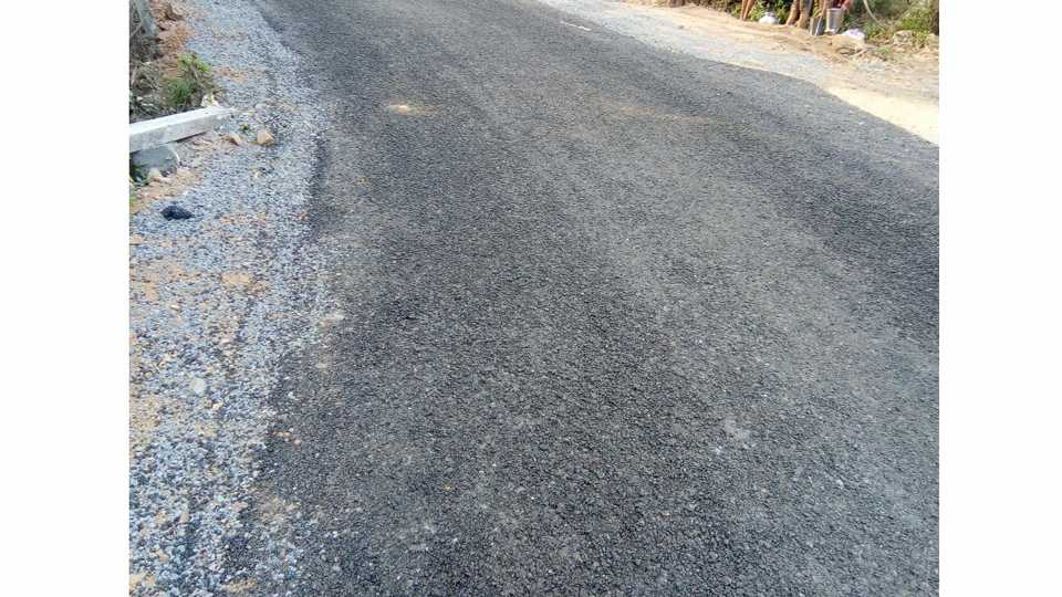 The work of renovation of roads in Palghar district is getting degraded