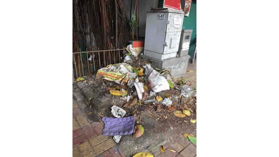 Municipal corporation's neglect to the trash