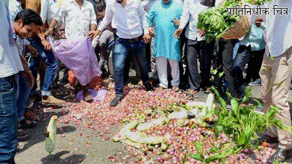 washim news marathi news farmer strike
