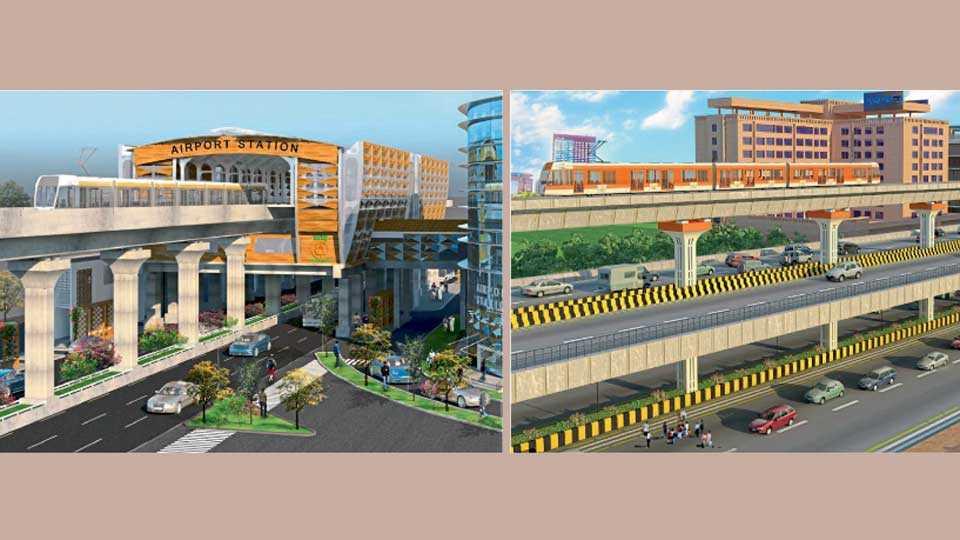 नागपूर - 1) मेट्रो रेल्वेच्या एअरपोर्ट स्टेशनचे डिझाईन. 2) वर्धा मार्गावर तयार होत असलेल्या डबल डेकर पुलाचे डिझाईन.