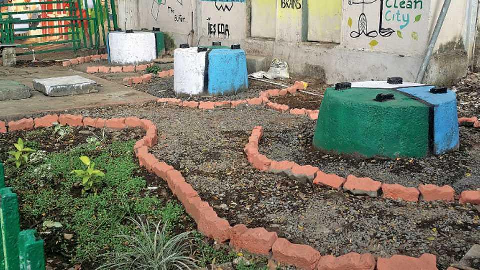 अस्वच्छता असलेल्या जागेत विद्यार्थ्यांनी फुलवलेले उद्यान.
