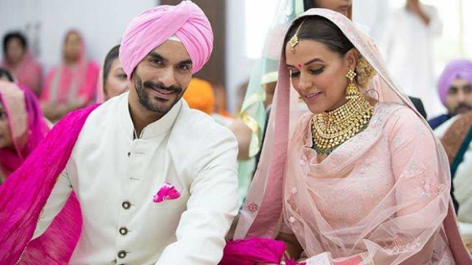 bollywood Actress Neha Dhupia got married