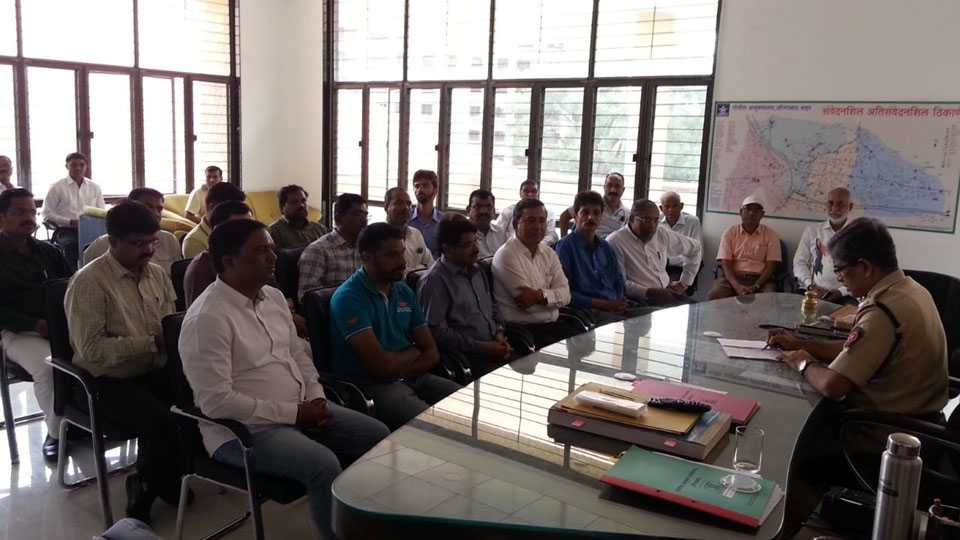 Waluj entrepreneurs took a meeting with the Commissioner of Police