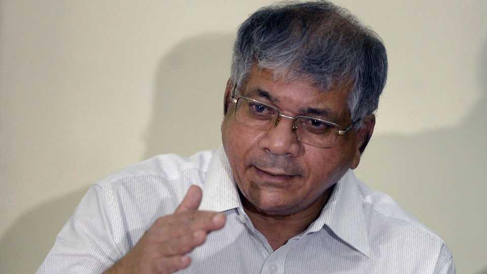 File photo of Prakash Ambedkar