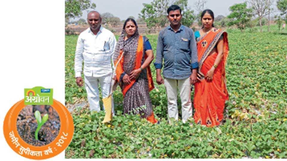 रत्नाकर आलमले यांचे संपूर्ण कुटुंब शेतीत मेहनत करते. एकमेकांच्या मदतीमुळेच शेतीतील भार कमी झाला आहे.