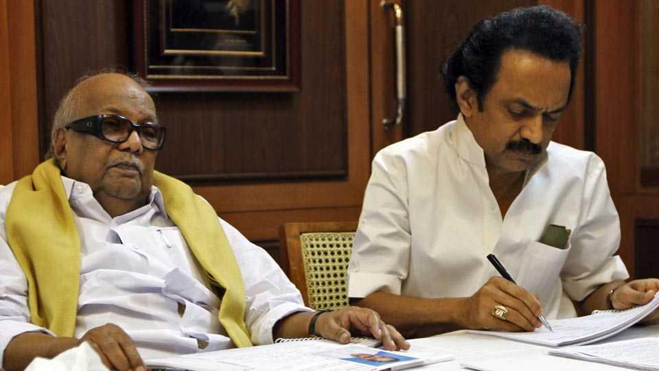 karunanidhi and stalin