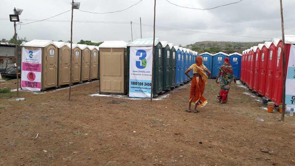 #saathchal Arrangement of toilets in cities for the Warakaris