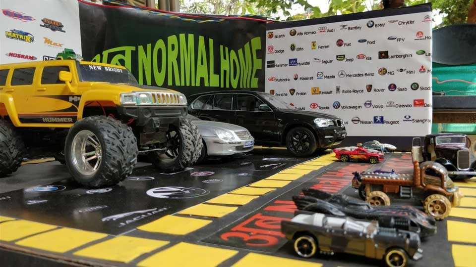 marathi news pune kothrud abnormal childrens cars exhibition