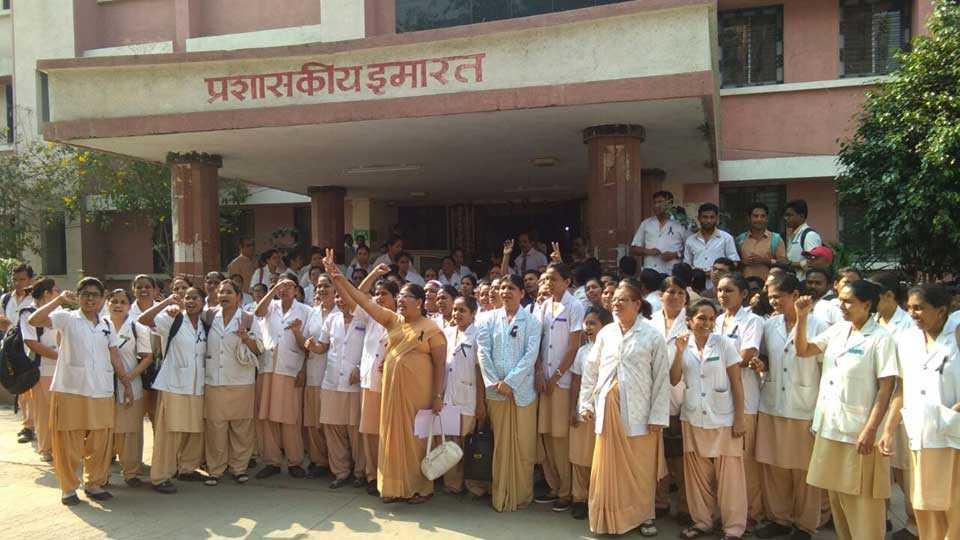 marathi news vidarbha akola government medical college agitation doctor nurse