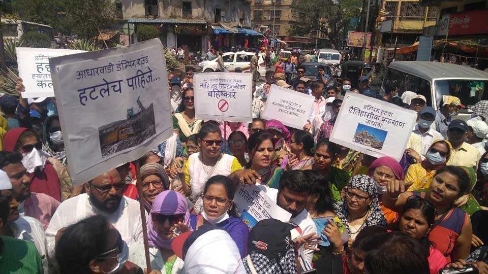 dumping ground agitation kayan mumbai commissioner