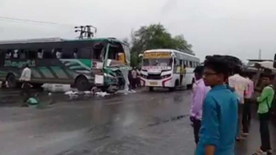 Chandrapur: 20 people injured in a private bus accident