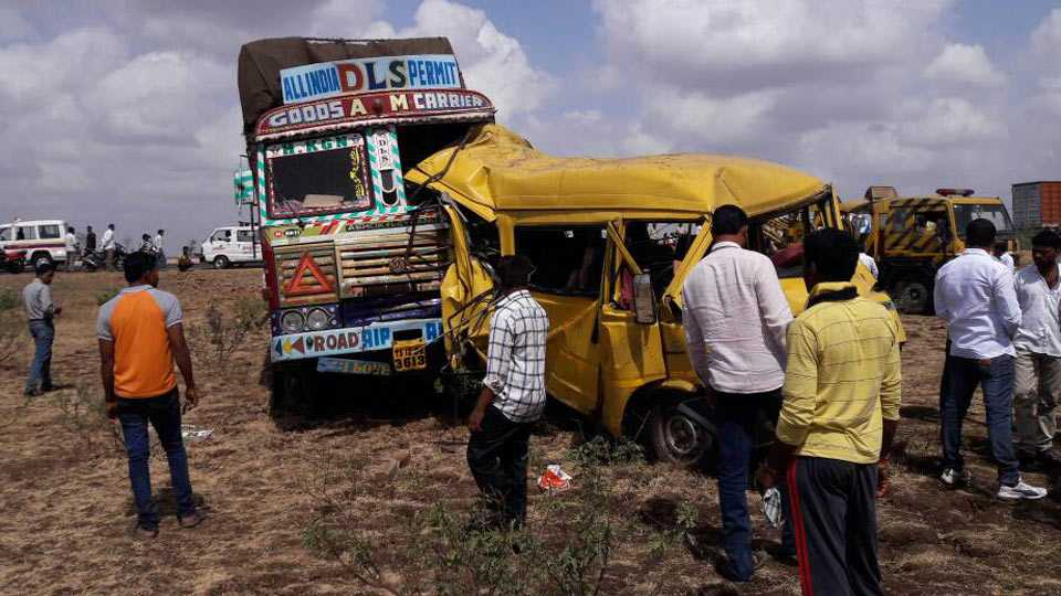 pune news Two persons killed in an accident near Indapur