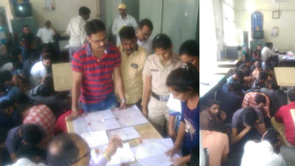 25 engineering students illegally writing paper in corporators house; 25 students arrested