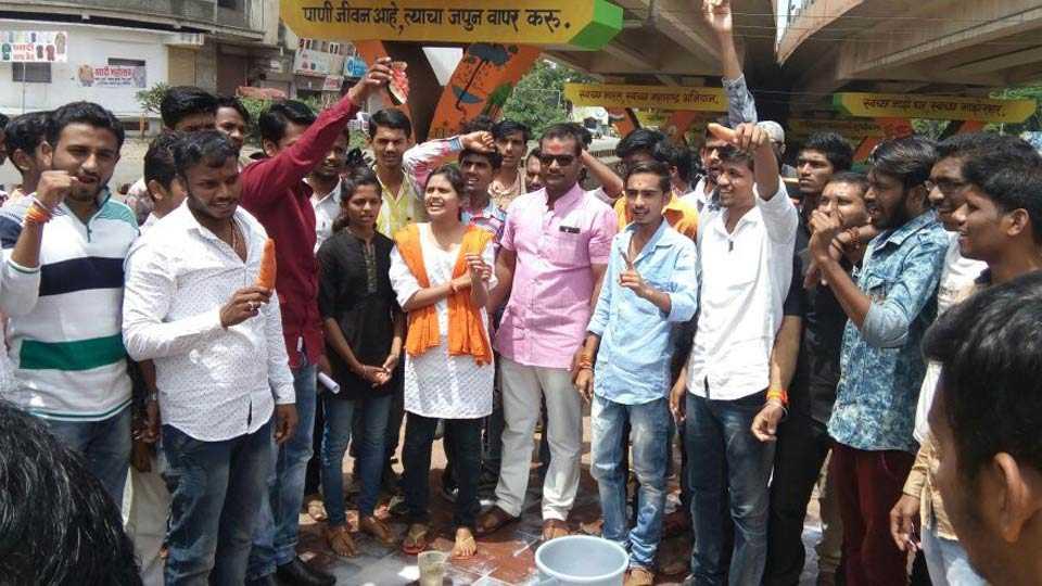 Maratha student agitation in aurangabad