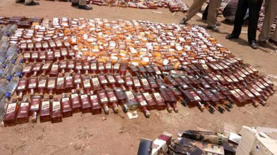 Beer Bottle Destroyed in Ahmadabad