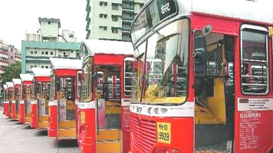 best bus protest mumbai esakal news