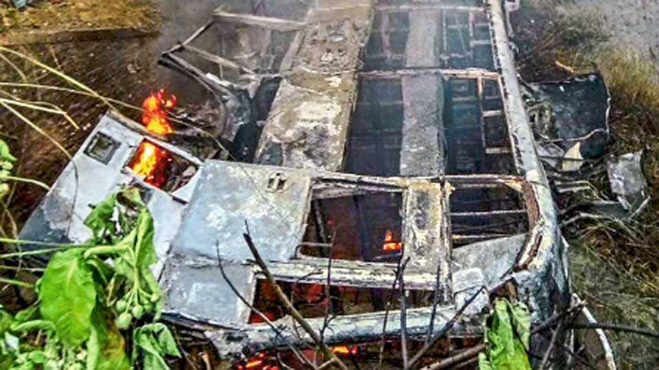 bus burn in bihar