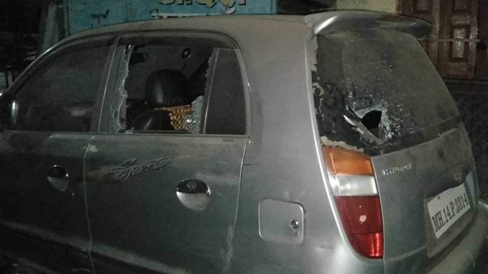 38 vehicles have been crushed to create terror in Pimpri Area