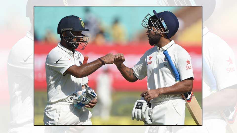 Murli Vijay and Cheteshwar Pujara