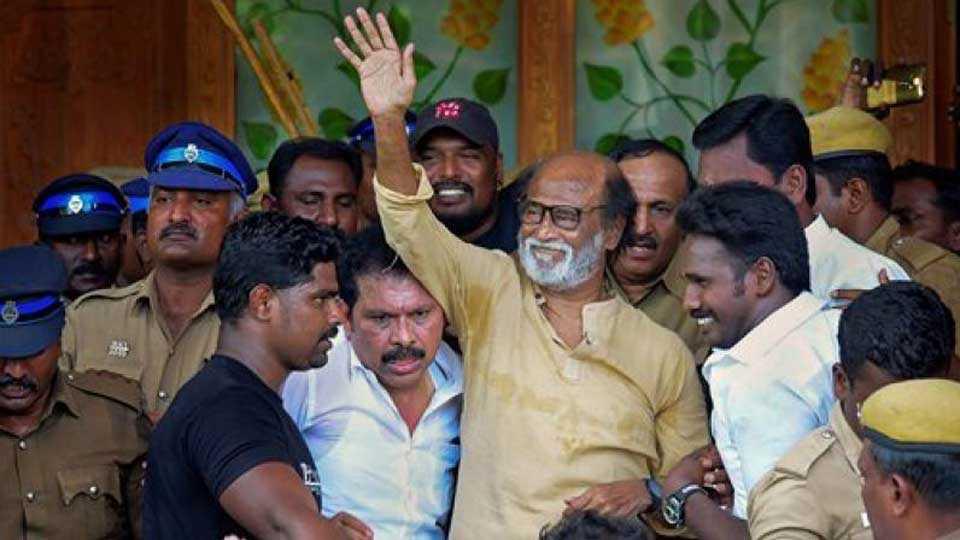 Kumaraswamy provide protection 'Kala' movie: Rajinikanth