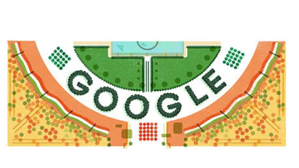 Google shows special stadium doodle