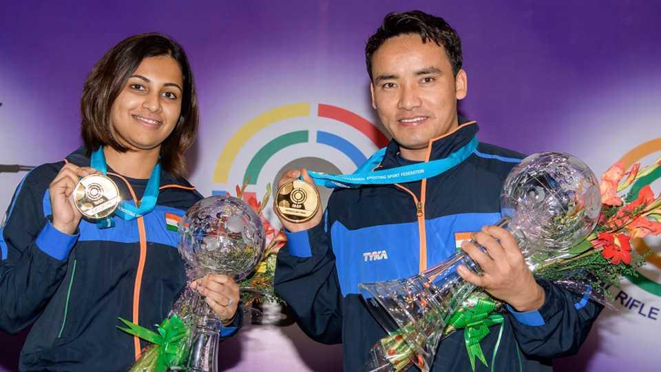 ISSF World Cup Final: Heena Sidhu and Jitu Rai win gold in 10m Air Pistol Mixed Team event