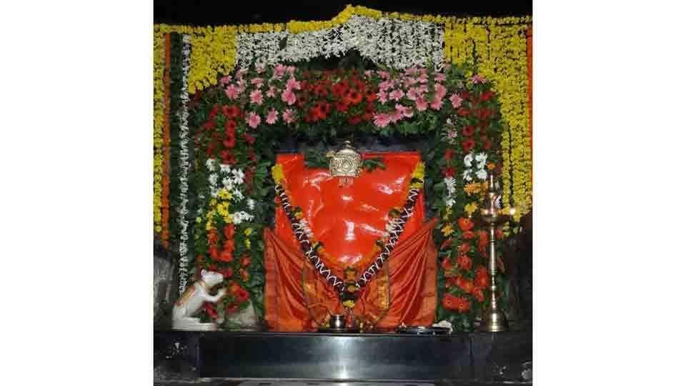 Crowd of devotees at shree kshetra lenyandri junnar