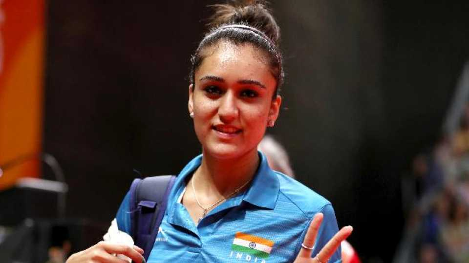 Manika Waiting for prize of the Delhi Commonwealth Games
