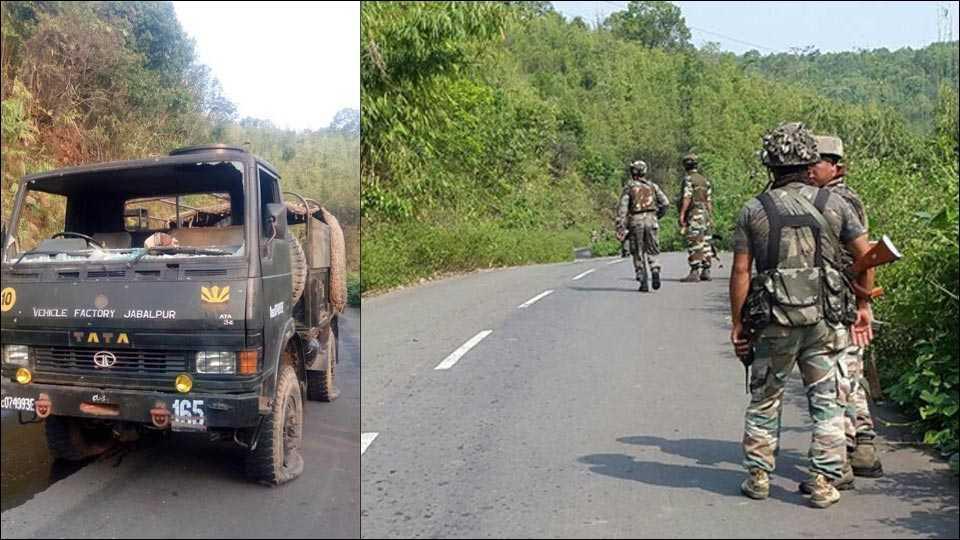 several injured in manipur blast