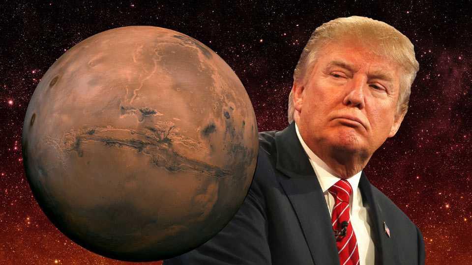 USA President Donald Trump change NASAs Mars goals