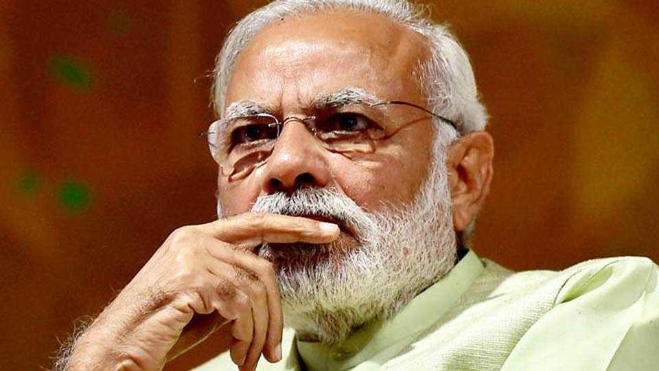 PM Narendra Modi Met BJPs Five Top Lieutenants Before No Trust Vote